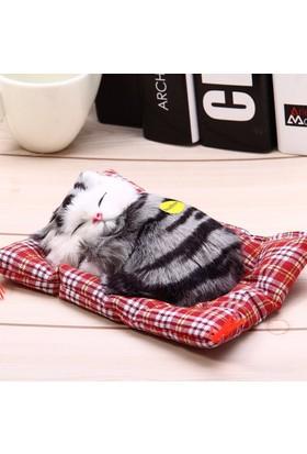 Peluş Kedi Uyuyan - Miyavlayan Kedi