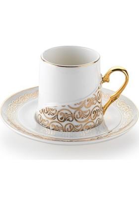 Schafer Ottoman 12 Parça 6 Kişilik Kahve Fincan Takımı