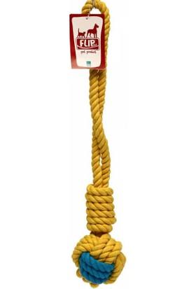 Flip Dtr-106 Köpek Diş İpi (Sarı-Lacivert) 300 Gr 40 Cm