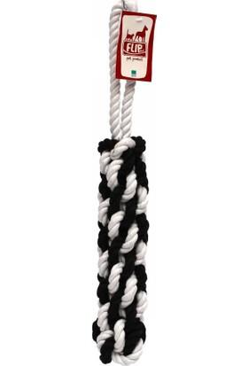 Flip Dtr-107 Köpek Diş İpi (Siyah-Beyaz) 320 Gr 42 Cm