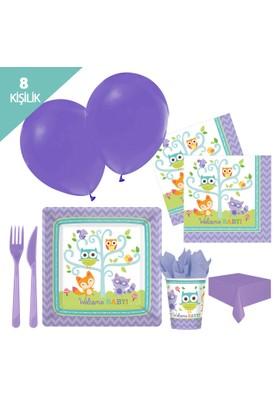 Kullanatmarket Hoşgeldin Bebeğim Parti Seti 8 Kişilik - 93 Adet