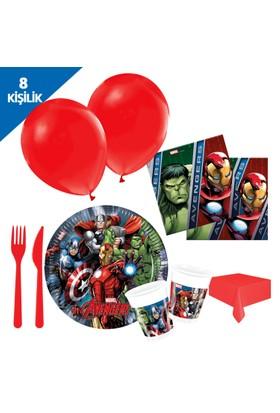 Kullanatmarket Avengers Power Parti Seti 8 Kişilik - 97 Adet