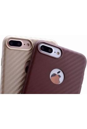Zore Apple Apple iPhone 7 Plus Kılıf Karbon Silikon Kapak Cam