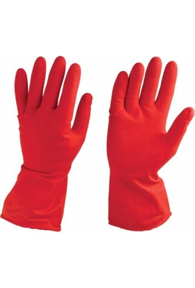 Karplast Kırmızı Bulaşık Eldiveni 9- 9,5 Numara 1 Çift