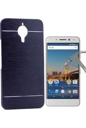 Teleplus General Mobile GM 5 Plus Çift Katmanlı Kapak Kılıf + Cam Ekran Koruyucu
