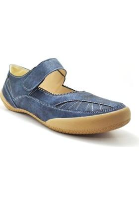 Baldano® Ortopedik Büyük Numara Lacivert Kadın Günlük Ayakkabı 42