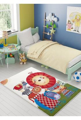 Confetti Lion King Turuncu Oymalı Halı 100x150 cm
