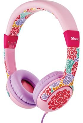 Trust Urban 20954 Spila Çocuklar İçin Kulaküstü Kulaklık Çiçek Desenli