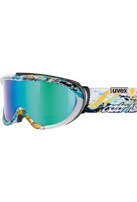 UVEX - Uvex comanche cf white/cyan dl/litemirr Kayak Gözlüğü