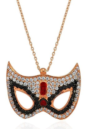 Bella Gloria Roz Maske Gümüş Kolye (Gk00295)
