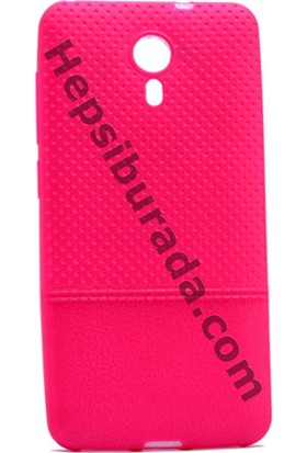 Case 4U General Mobile Android One 4G Matrix Desenli İnce Silikon Kılıf Pembe