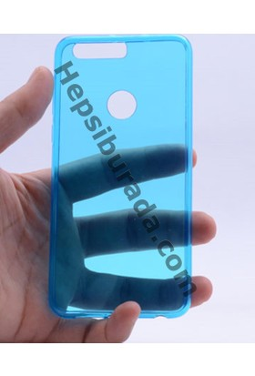 Case 4U Huawei Honor 8 0.2mm Ultra İnce silikon Kılıf Mavi