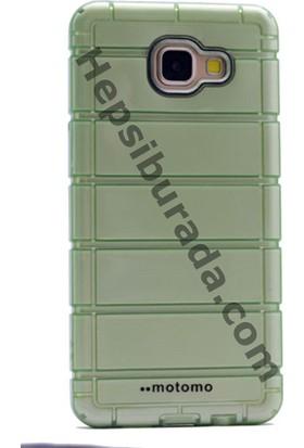 Case 4U Samsung A510 Galaxy A5 Çizgili Moto Silikon Arka Kapak Yeşil