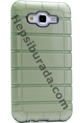 Case 4U Samsung Galaxy J7 Çizgili Moto Arka Kapak Yeşil