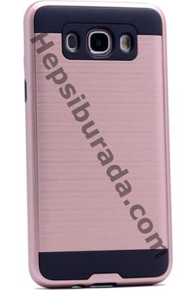 Case 4U Samsung Galaxy J710 J7 2016 Korumalı Arka Kapak Rose Gold