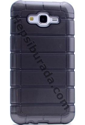 Case 4U Samsung Galaxy J710 J7 2016 Çizgili Moto Arka Kapak Siyah