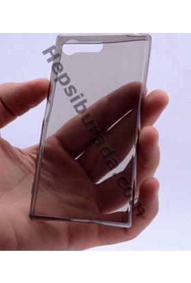 Case 4U Sony Xperia X Compact 0.2mm Ultra İnce Silikon Kılıf Füme
