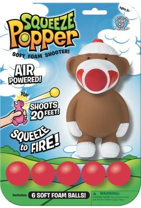 Squeeze Popper Sock Monkey Popper Top Fırlatma Oyuncağı