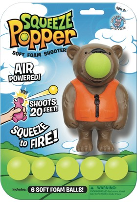 Squeeze Popper Bear Popper Top Fırlatma Oyuncağı