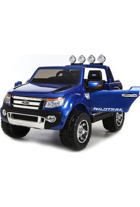 Ford Ranger Wildtrak Pick Up / Pikap Jeep 12 V Çift Motor Akülü Çocuk Araba - Mavi