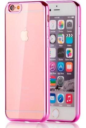Mse Apple iPhone 6/6S Yumuşak Şeffaf Parlak Kenarlı Kılıf