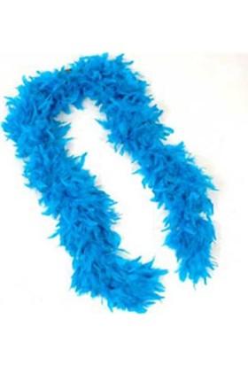Partistok Mavi Tüylü Otriş Tüy Boa Kalın