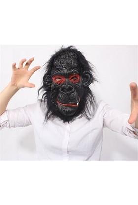 Partistok Cadılar Bayramı Goril Maskesi Yandan Dişli