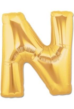 Partistok N Harf Folyo Balon Altın