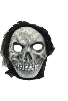 Partistok Cadılar Bayramı Kurukafa Maskesi