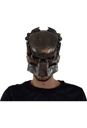 Partistok Cadılar Bayramı Predatör Maskesi Kahve