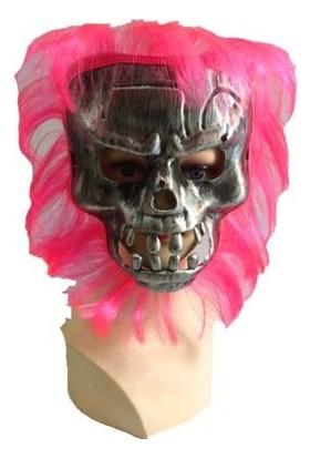Partistok Cadılar Bayramı Pembe Saçlı Maske