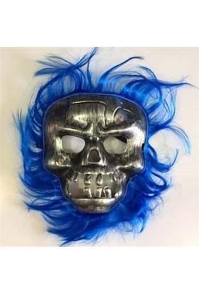 Partistok Cadılar Bayramı Lacivert Saçlı Maske