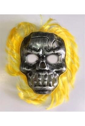 Partistok Cadılar Bayramı Sarı Saçlı Maske