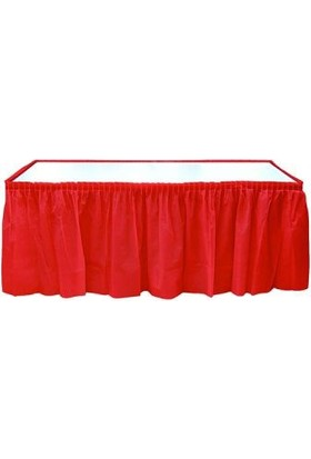 Partistok Masa Eteği Kırmızı