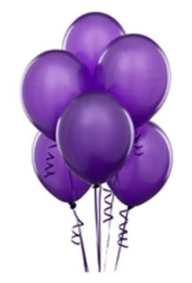 Partistok Metalik Mor Balon 25 Adet