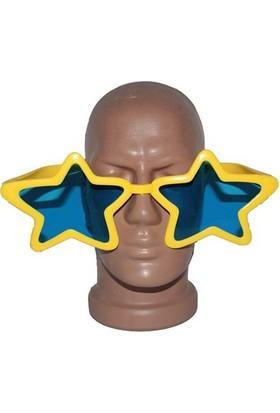 Partistok Büyük Yıldız Parti Gözlüğü Sarı