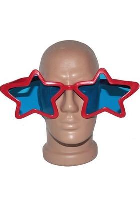 Partistok Büyük Yıldız Parti Gözlüğü Kırmızı