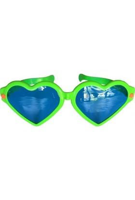Partistok Büyük Kalp Parti Gözlüğü Yeşil