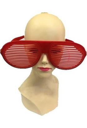Partistok Büyük Panjur Parti Gözlüğü Kırmızı