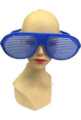 Partistok Büyük Panjur Parti Gözlüğü Mavi