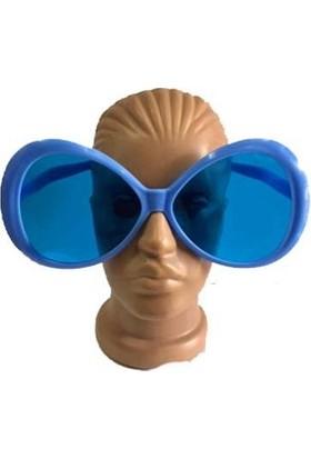Partistok Büyük Boy Oval Parti Gözlüğü Mavi