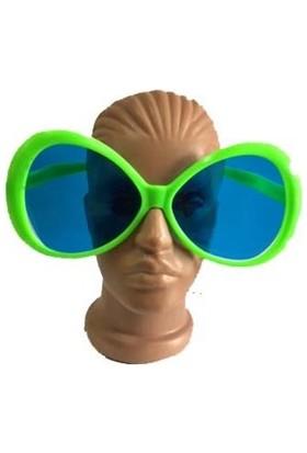Partistok Büyük Boy Oval Parti Gözlüğü Yeşil
