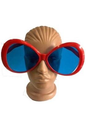 Partistok Büyük Boy Oval Parti Gözlüğü Kırmızı
