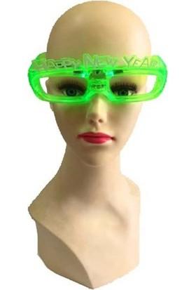 Partistok Işıklı Yılbaşı Gözlüğü Yeşil