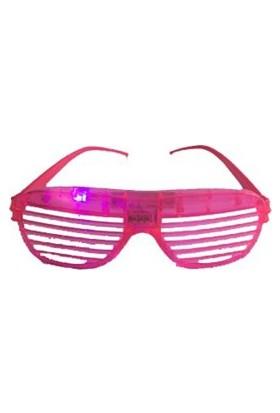 Partistok Işıklı Panjur Parti Gözlüğü Pembe