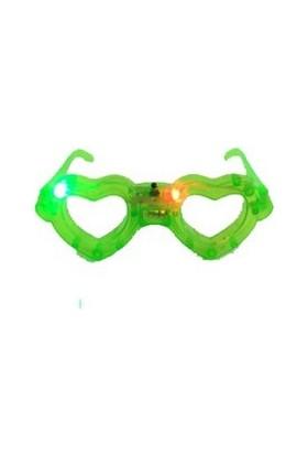 Partistok Işıklı Kalp Parti Gözlüğü Yeşil