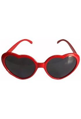 Partistok Kalpli Parti Gözlüğü Kırmızı
