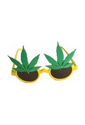 Partistok Yapraklı Parti Gözlüğü Sarı