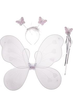 Partistok Kelebek Kanat Seti Beyaz