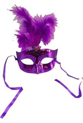 Partistok Balo Maskesi Tüylü Mor